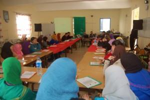 9 Séance de formation des Femmes des pêcheurs dans le centre des femmes des pêcheurs